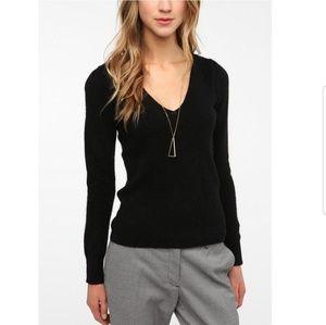 Kimchi Blue Deep V neck Angora Sweater Sz L